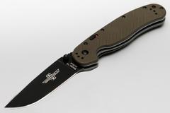 Полуавтоматический складной нож RAT™-1A Assisted Black Blade, Olive Drab G-10 Handle