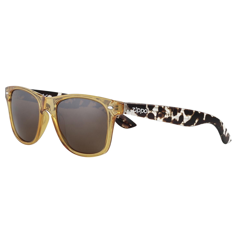 Очки солнцезащитные ZIPPO OB21-19, коричневые, оправа и дужки из поликарбоната, поляризационные линзы TAC