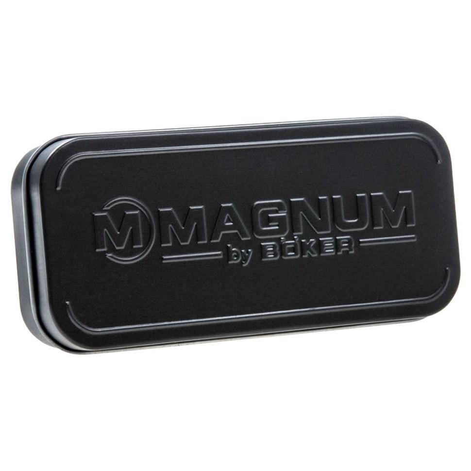 Фото 13 - Складной нож Magnum SE Dagger Blue - Boker 01LG114, сталь 440A Titanium Nitride, рукоять нержавеющая сталь, синий/песочный