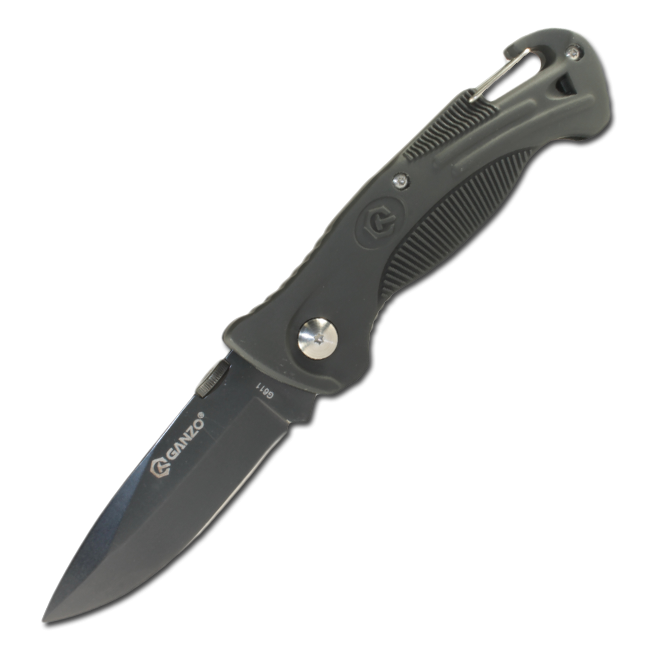 Нож Ganzo G611 black liner lock foldable knife with ttitanium coated