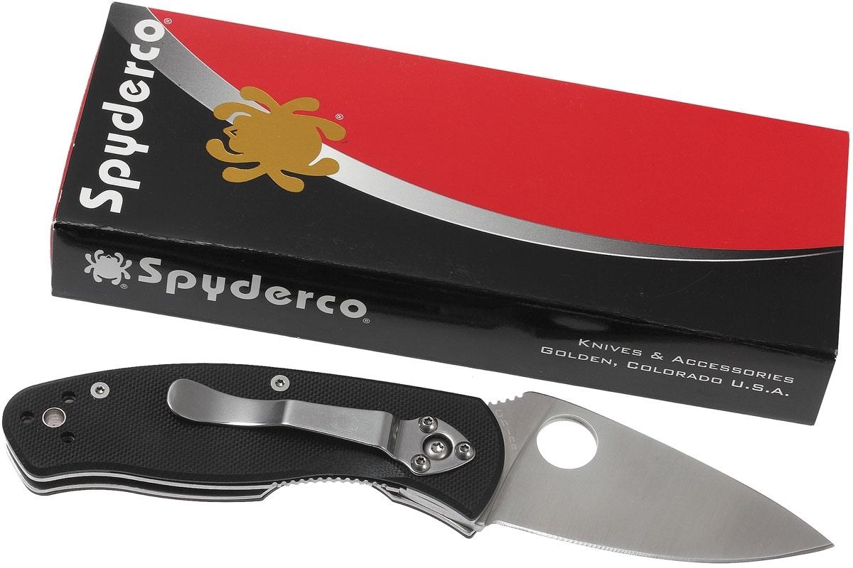 Фото 6 - Нож складной Persistence Spyderco 136GP, сталь 8Cr13MOV Satin Plain, рукоять G-10, чёрный