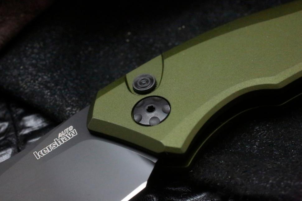 Фото 5 - Складной автоматический нож Kershaw Launch 1 K7100OLBLK, сталь CPM 154, рукоять алюминий