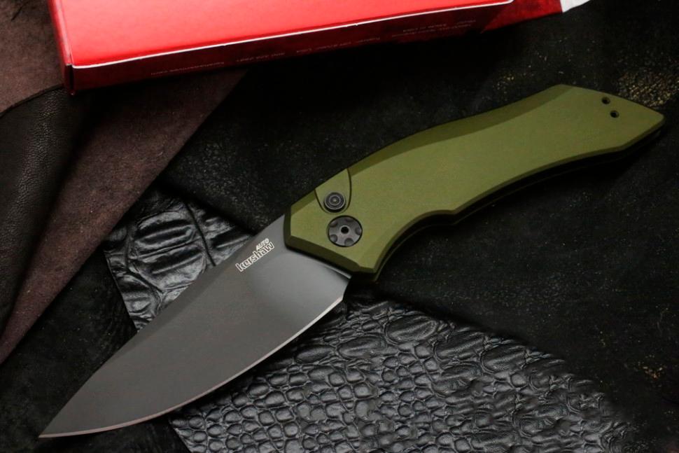 Фото 7 - Складной автоматический нож Kershaw Launch 1 K7100OLBLK, сталь CPM 154, рукоять алюминий