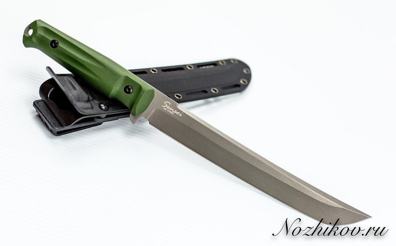 Нож Sensei D2 DSW олива, Кизляр тактический нож sturm pgk dsw олива кизляр