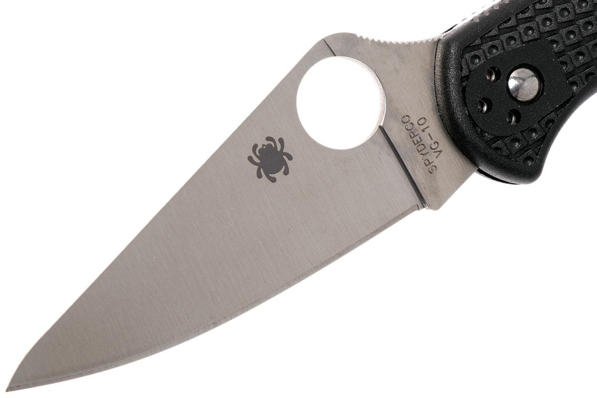 Фото 11 - Складной нож Spyderco Delica 4 Flat Ground - 11FPBK, сталь VG-10 Satin Plain, рукоять термопластик FRN, чёрный