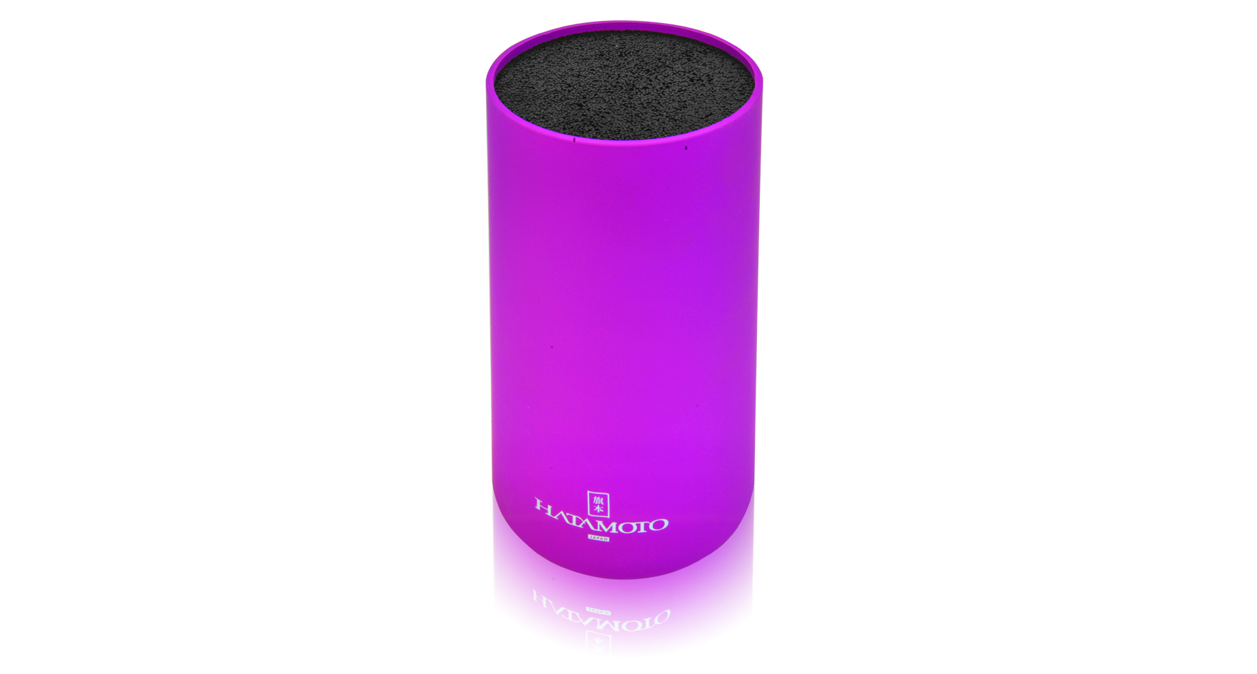 цена на Подставка для ножей круглая HATAMOTO COLOR, фиолетовая, пластик, 110*225мм