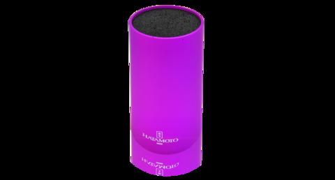 Подставка для ножей круглая HATAMOTO COLOR, фиолетовая, пластик, 110*225мм - Nozhikov.ru