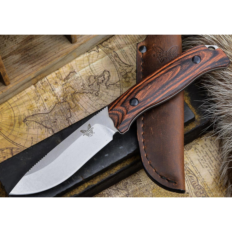 Фото 5 - Нож Benchmade Saddle Mountain Skinner Hunt Wood 15001-2, сталь CPM S30V, рукоять дерево