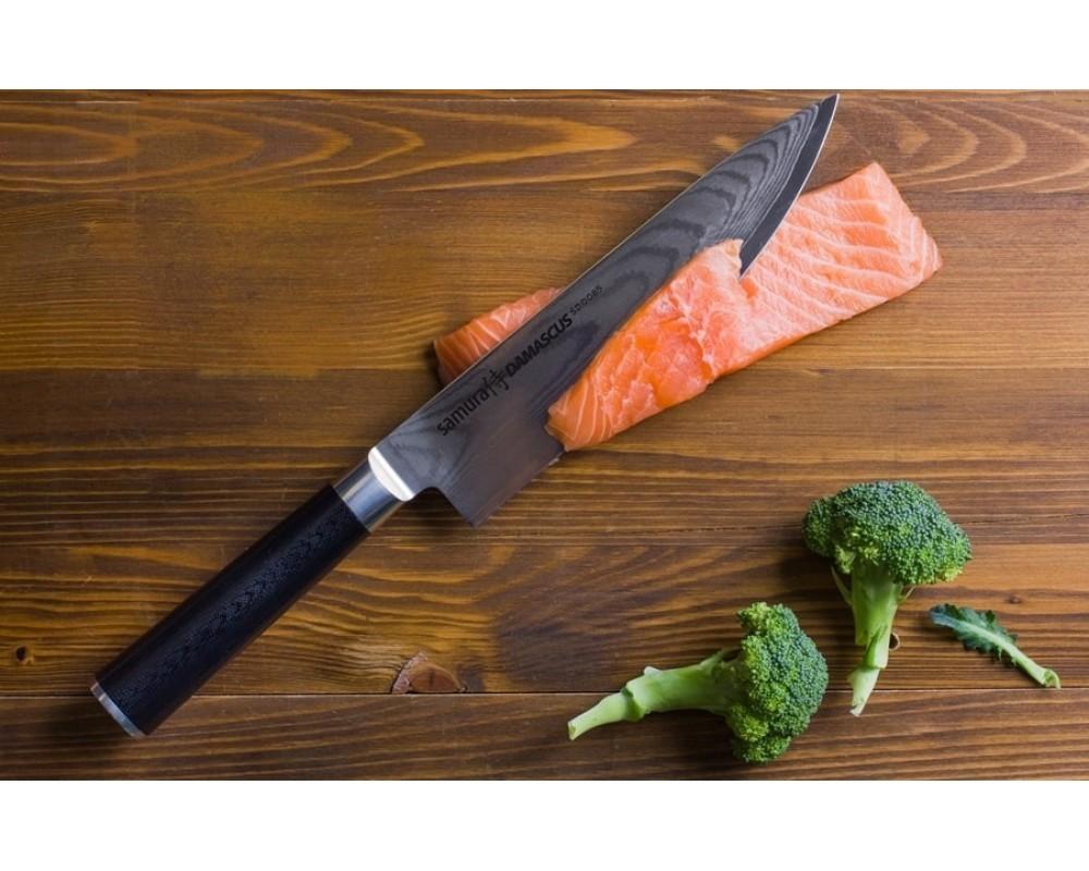 Фото 4 - Набор из 3 кухонных ножей Samura DAMASCUS в подарочной коробке -