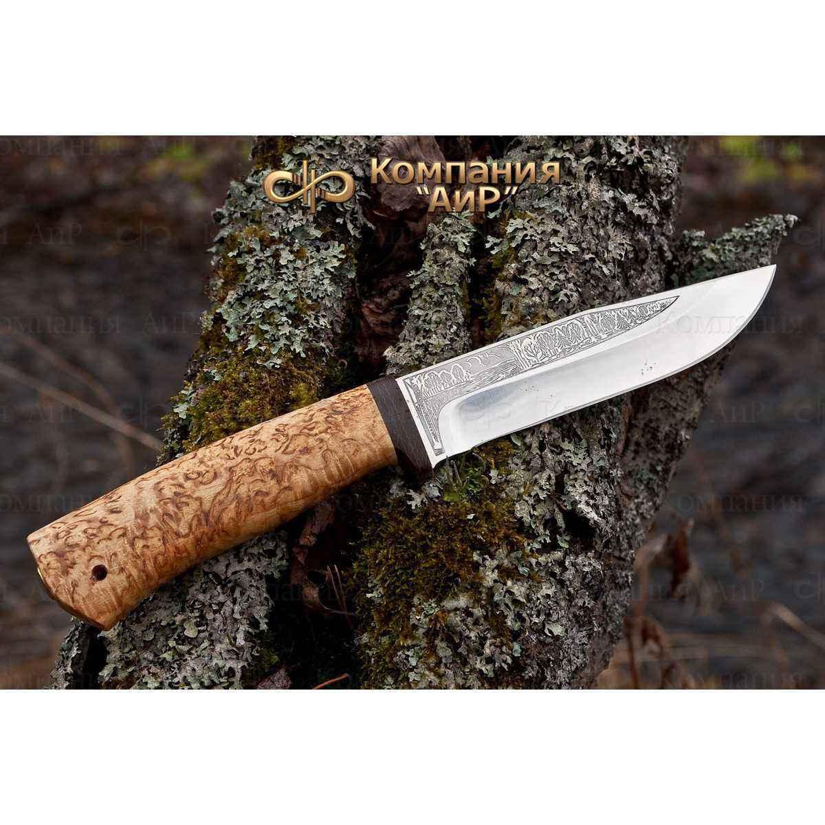 Нож АиР Турист, сталь M390, рукоять карельская береза