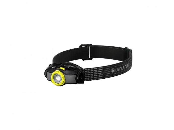 Фото - Фонарь светодиодный налобный LED Lenser MH3, черно-желтый, 200 лм, 1-АА налобный фонарь mh3 черный с серым