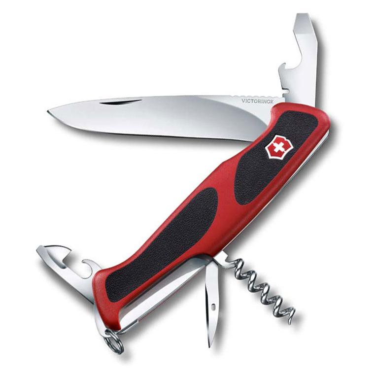 Нож перочинный Victorinox RangerGrip 68, сталь X55CrMo14, рукоять полиамид, красно-чёрный