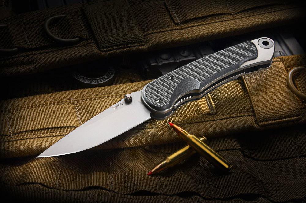 Фото 13 - Нож складной Spartan Blades Akribis Meteorite Grey, сталь CPM-S35VN, рукоять титан/карбон