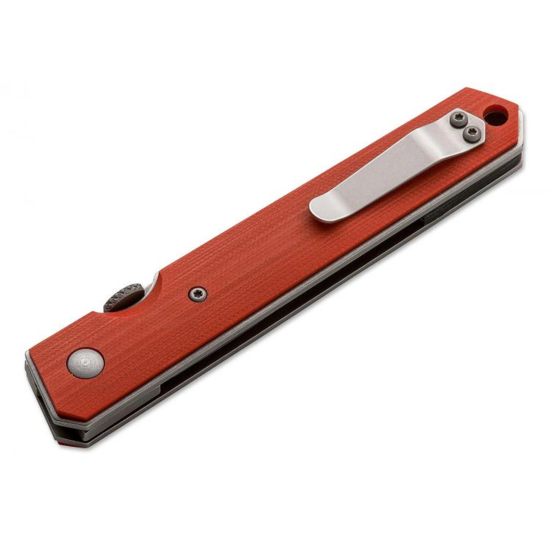 Фото 5 - Нож складной Kwaiken Folder Orange (IKBS®), Boker Plus 01BO292, сталь AUS-8 Stonewashed Plain, рукоять стеклотекстолит G10, оранжевый