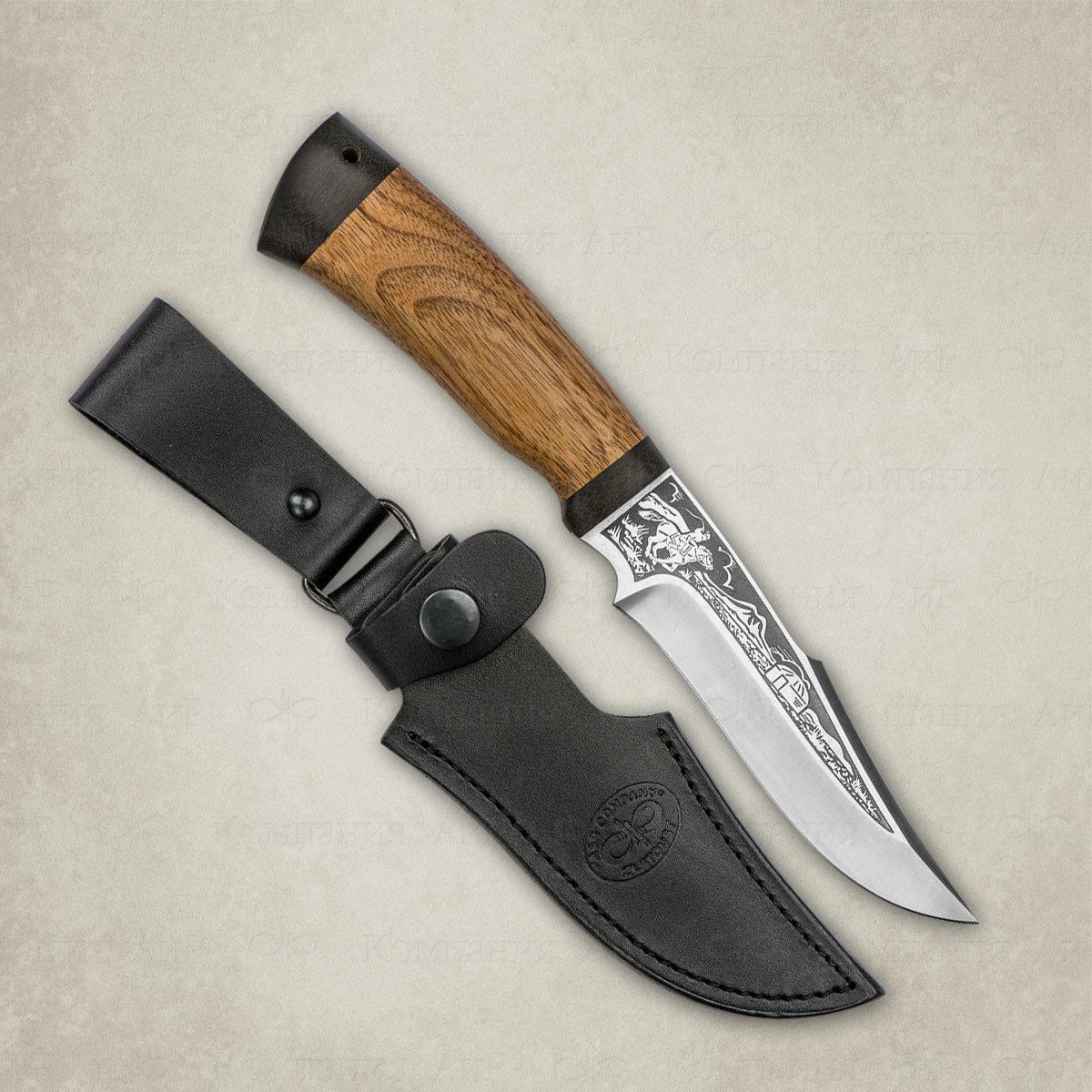 Нож АиР Хазар, сталь К-340, рукоять дерево нож аир хазар сталь к 340 рукоять граб