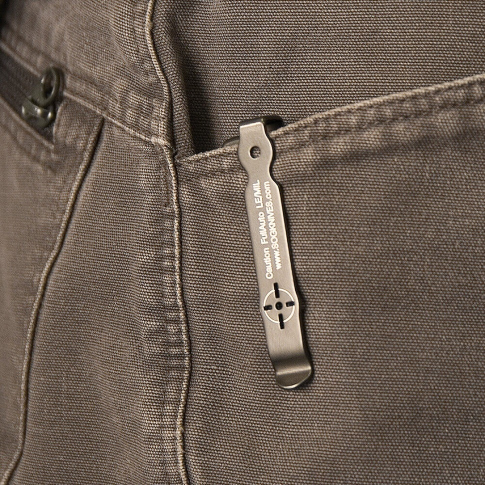 Фото 9 - Складной автоматический нож SOG-TAC ST02, сталь Aus 8, рукоять алюминий