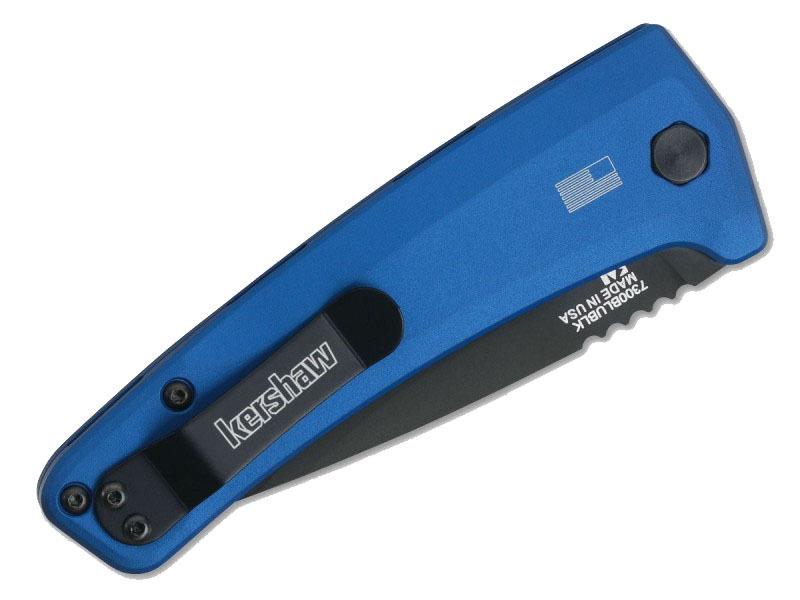Фото 4 - Полуавтоматический складной нож Launch 3 - Kershaw 7300BLUBLK Blue, сталь Crucible CPM® 154, рукоять анодированный алюминий, синий