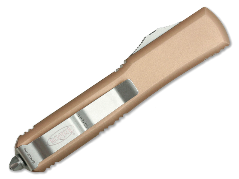 Фото 6 - Автоматический выкидной нож Microtech Ultratech T/E MT_123-4TA, сталь Bohler M390, рукоять алюминий