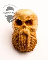 Бусина для темляка Бородатый череп