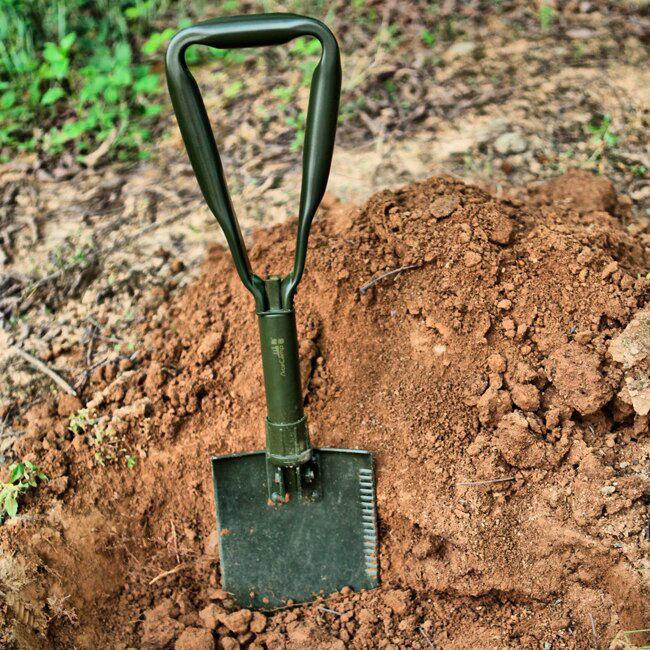 лучшая цена Складная походная лопата AceCamp Military