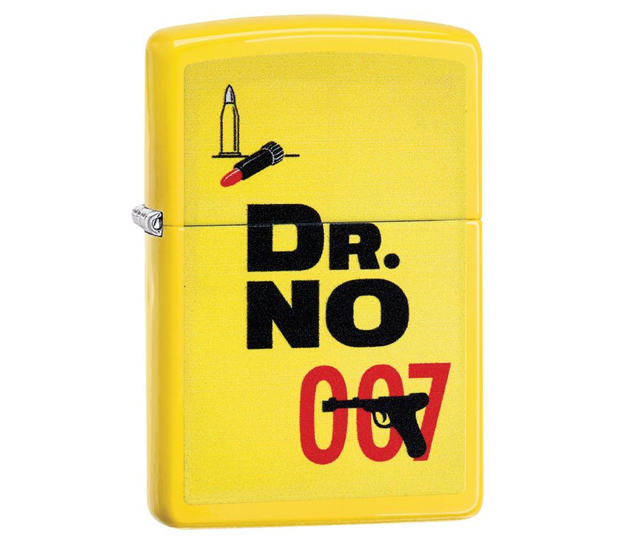 Зажигалка ZIPPO James Bond с покрытием Lemon™, латунь/сталь, жёлтая, матовая, 36x12x56 мм
