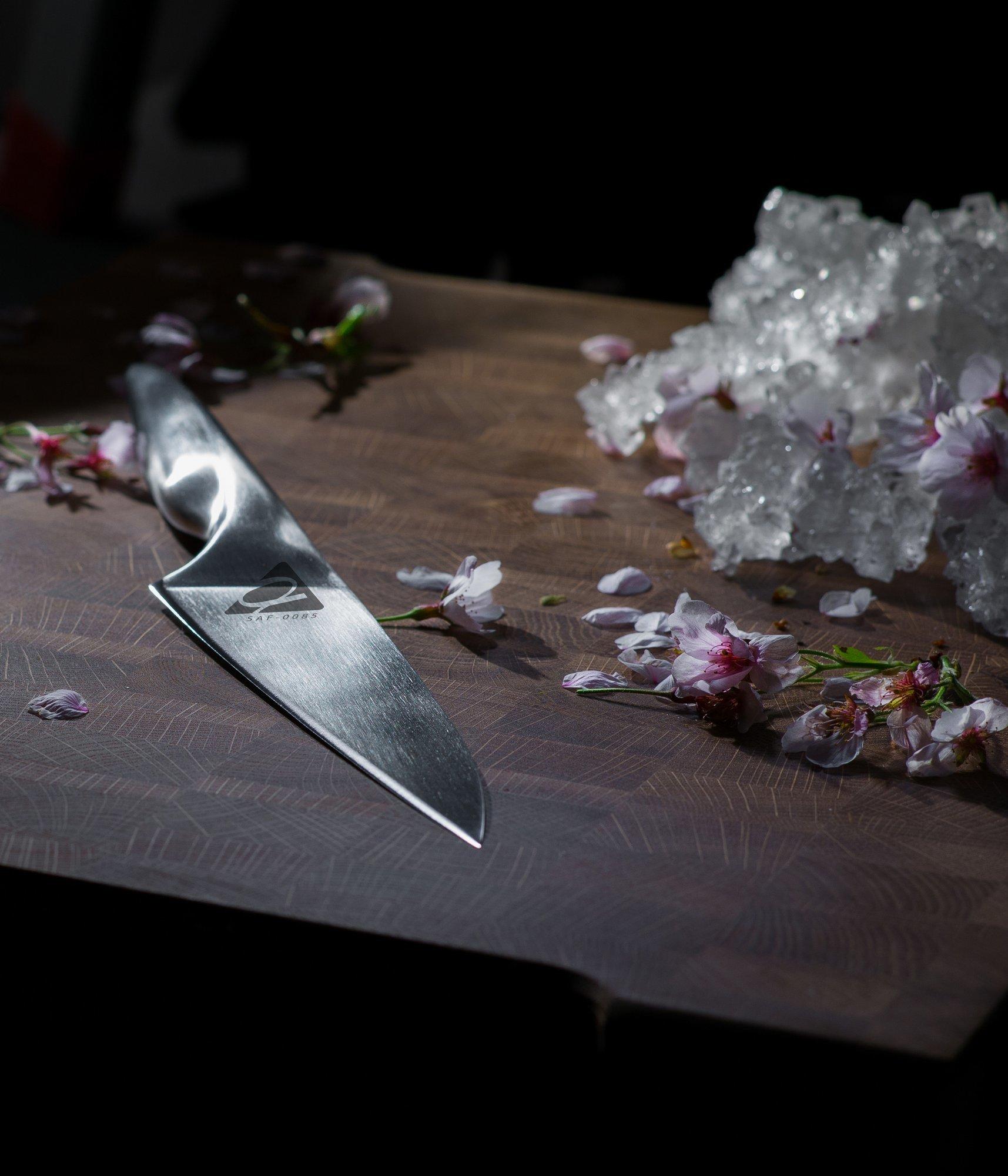 Фото 12 - Нож кухонный Samura ALFA Шеф SAF-0085/Y, сталь AUS-10