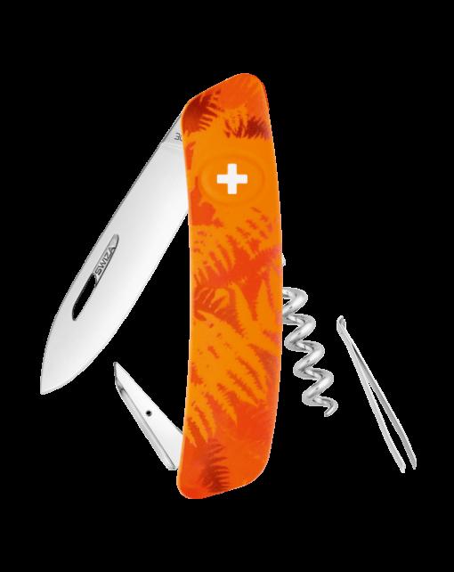Купить Швейцарский нож SWIZA C01 Camouflage, сталь 440, 95 мм, 6 функций, оранжевый в России