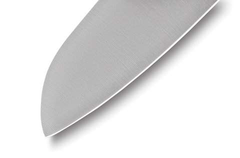 Нож кухонный Samura PRO-S Сантоку - SP-0095, сталь AUS-8, рукоять G10, 180 мм. Вид 4