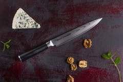 Нож кухонный для нарезки Samura Damascus SD-0045/Y, сталь VG-10/дамаск, рукоять стеклотекстолит, фото 4