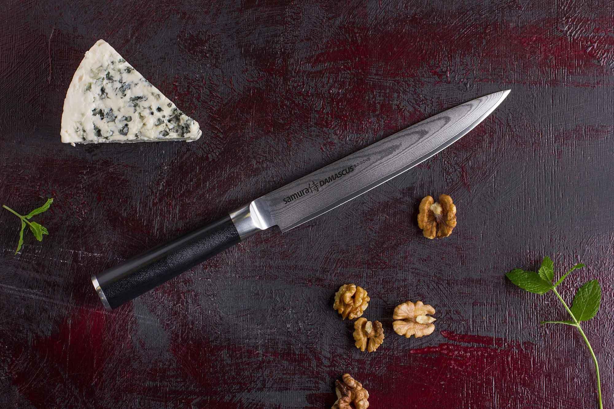 Фото 5 - Нож кухонный для нарезки Samura Damascus SD-0045/Y, сталь VG-10/дамаск, рукоять стеклотекстолит