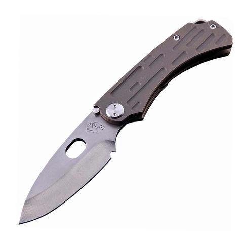 Нож складной Medford Colonial T, сталь S35VN, рукоять титановый сплав, бронзовый