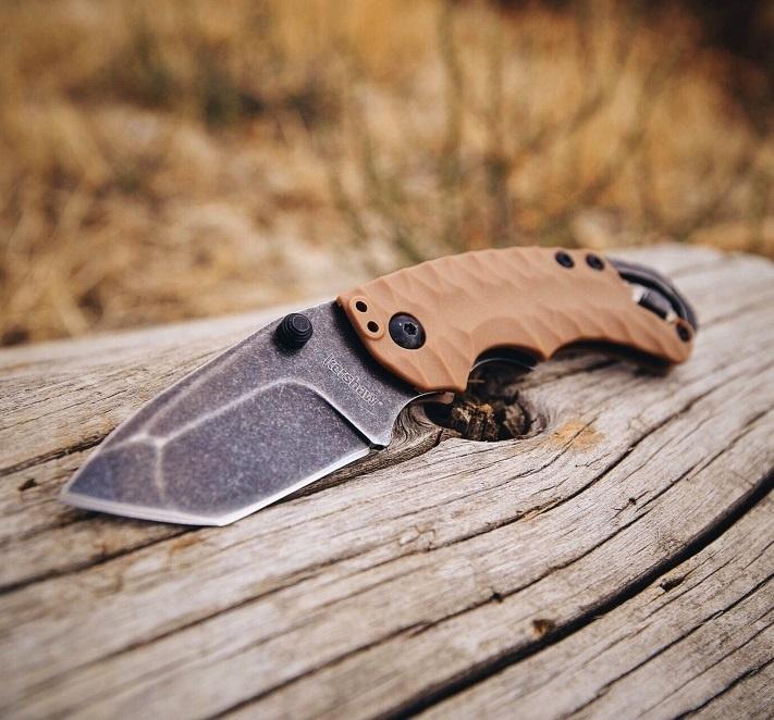 Фото 3 - Нож складной Shuffle II - KERSHAW 8750TTANBW, сталь 8Cr13MoV c покрытием BlackWash™, рукоять термопластик GFN коричневого цвета