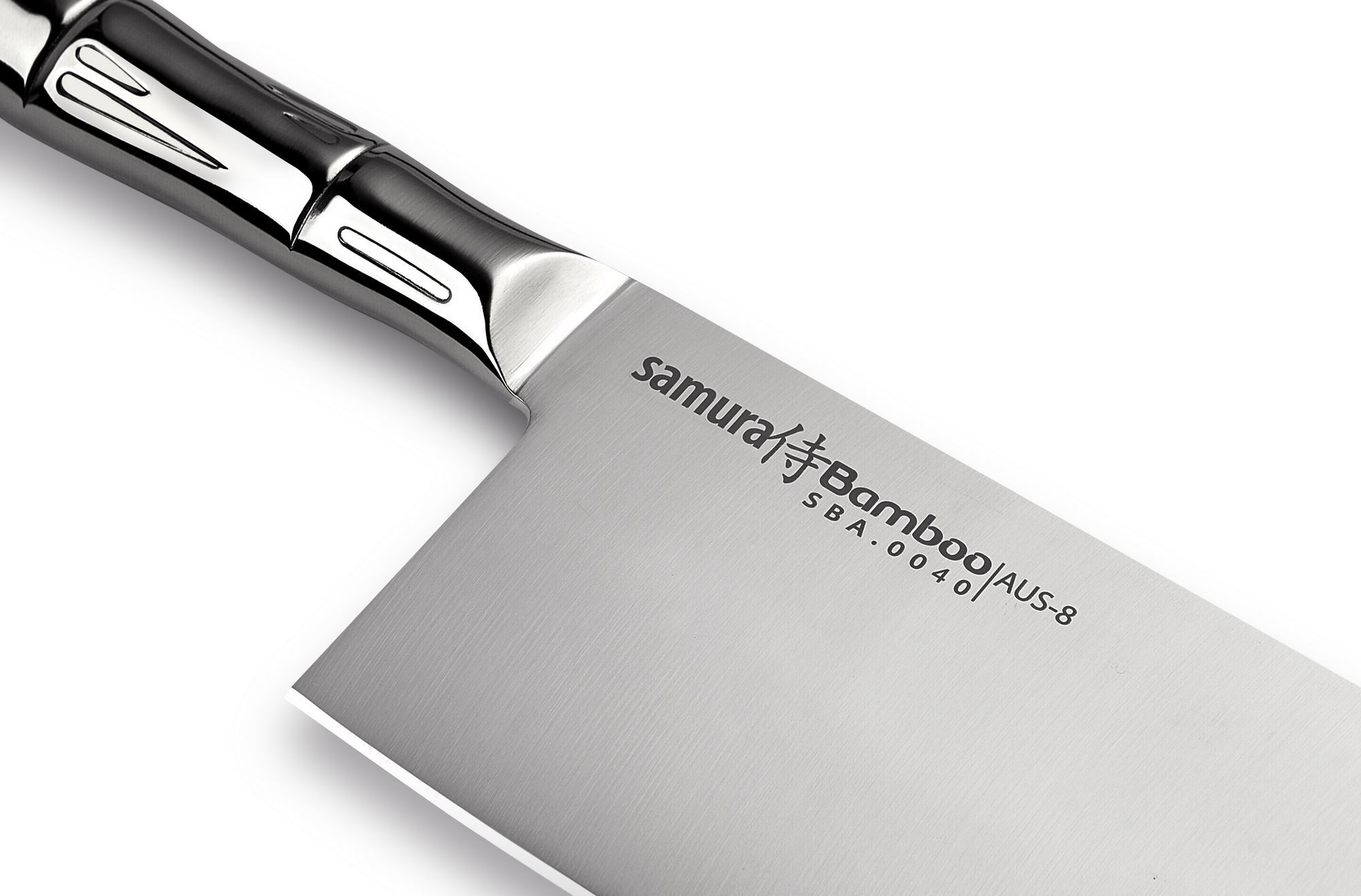 Фото 6 - Топорик кухонный для рубки мяса Samura Bamboo - SBA-0040, сталь AUS-8, рукоять сталь, 180 мм