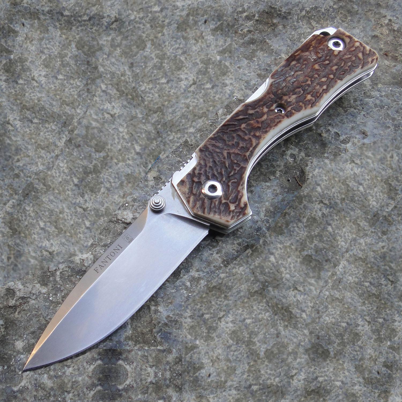 Купить Нож складной Hide Folder, Stag Scales, Crucible CPM® S30V™, Tommaso Rumici Design 7.5 см. от Fantoni в России