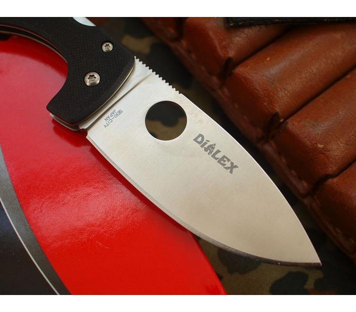 Фото 12 - Нож складной Junior - Spyderco 150GP, сталь VG-10 Satin Plain, рукоять стеклотекстолит G10, чёрный