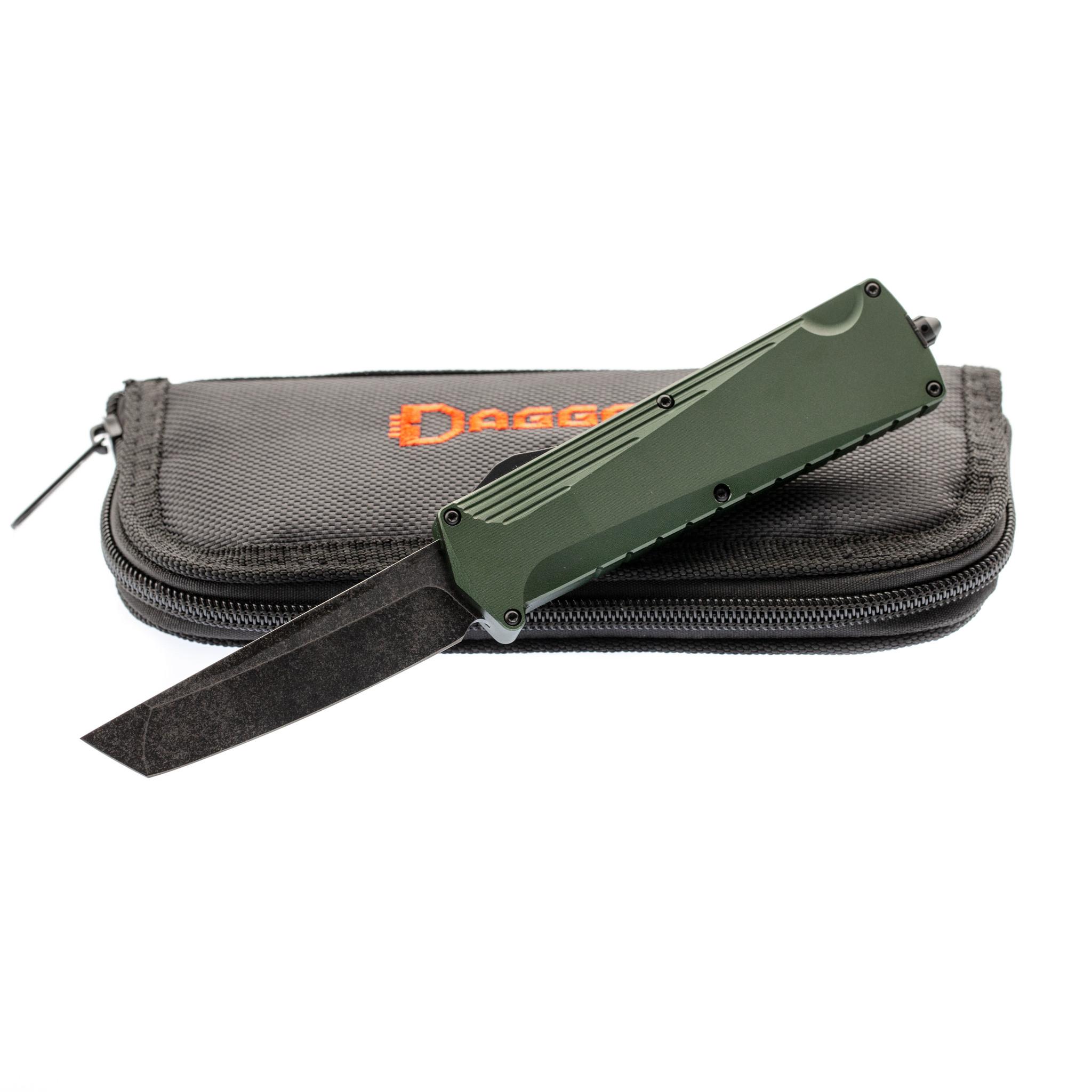 Автоматический нож Daggerr Koschei Tanto Olive (Кощей), сталь D2 складной нож daggerr koschei кощей сталь d2