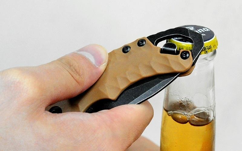 Фото 7 - Нож складной Shuffle II - KERSHAW 8750TTANBW, сталь 8Cr13MoV c покрытием BlackWash™, рукоять термопластик GFN коричневого цвета