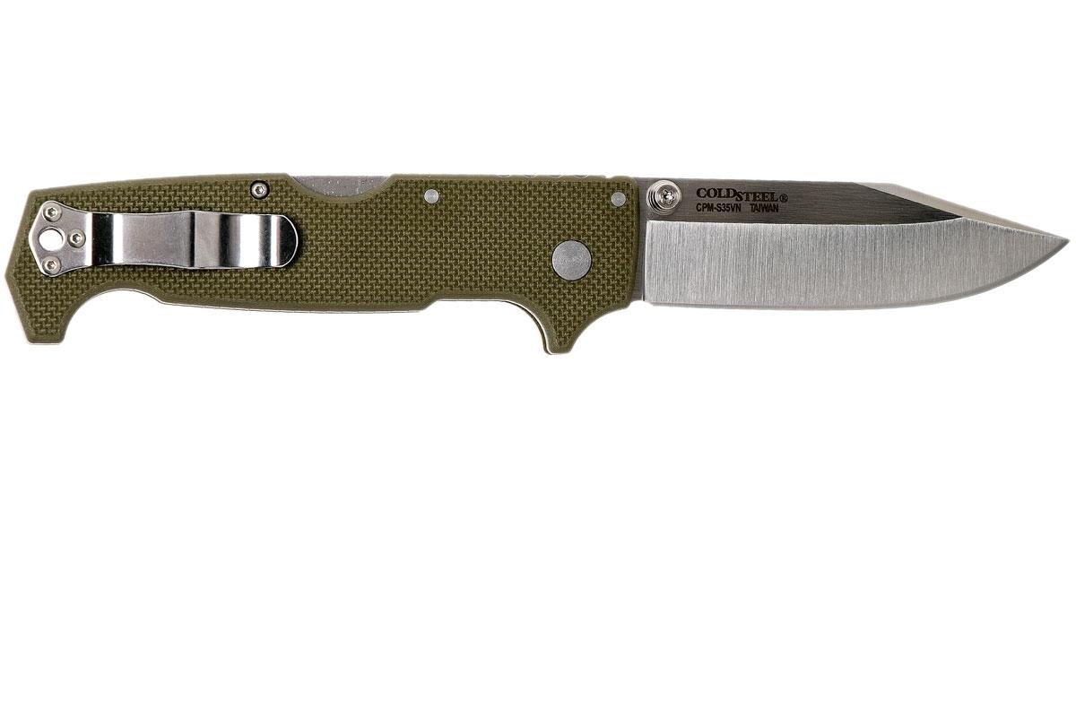 Фото 4 - Складной нож SR1, CPM S35VN, зеленый от Cold Steel