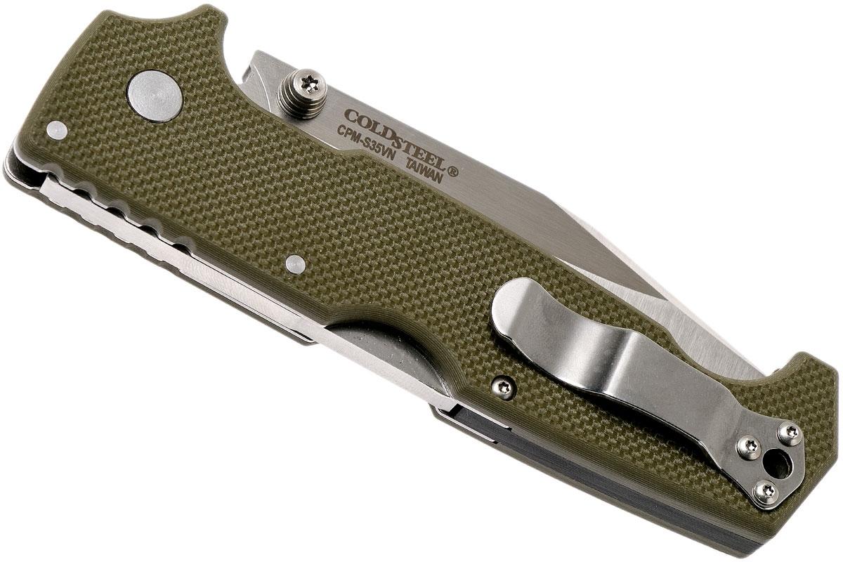 Фото 6 - Складной нож SR1, CPM S35VN, зеленый от Cold Steel