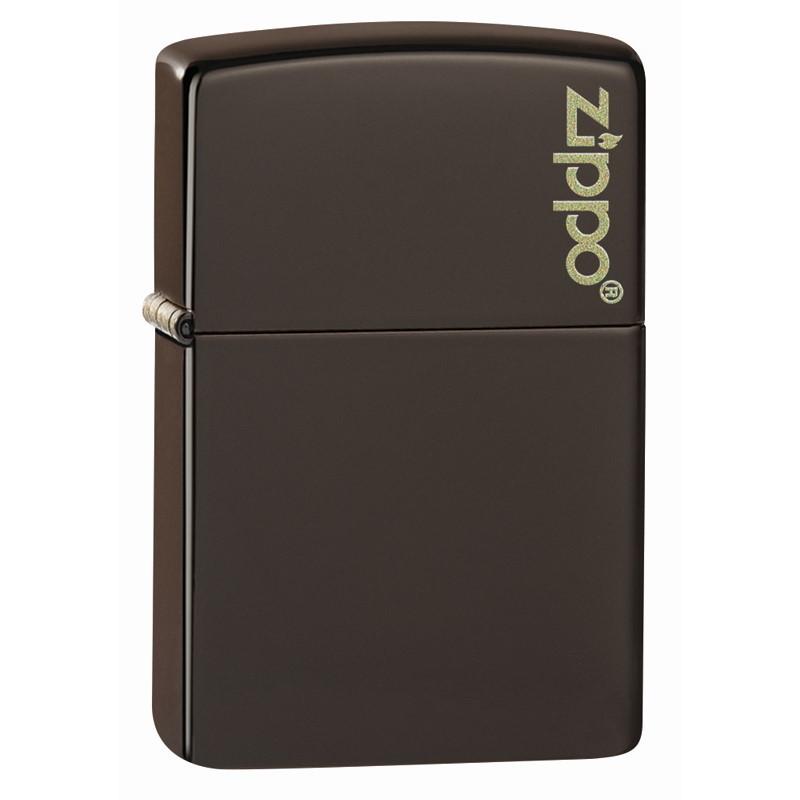 Зажигалка ZIPPO Logo Classic с покрытием Brown Matte, латунь/сталь, коричневая, матовая, 36x12x56 мм