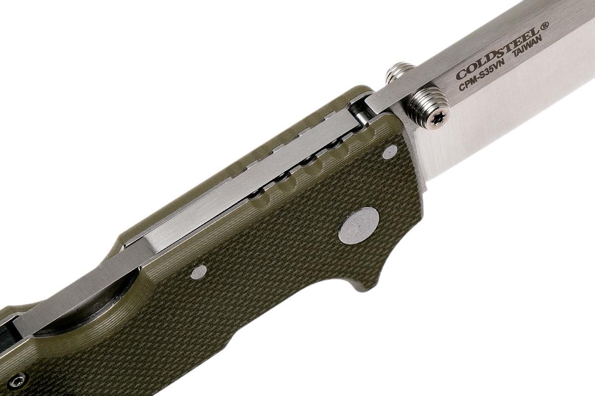 Фото 8 - Складной нож SR1, CPM S35VN, зеленый от Cold Steel