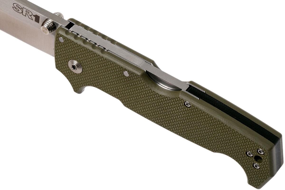 Фото 9 - Складной нож SR1, CPM S35VN, зеленый от Cold Steel