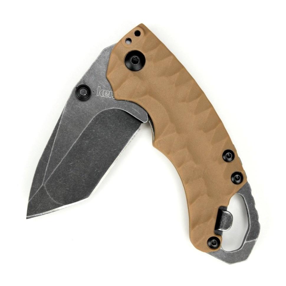 Фото 8 - Нож складной Shuffle II - KERSHAW 8750TTANBW, сталь 8Cr13MoV c покрытием BlackWash™, рукоять термопластик GFN коричневого цвета