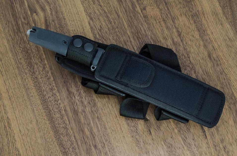 Фото 8 - Нож с фиксированным клинком Extrema Ratio TFDE 19 Sandblasted, сталь Bhler N690, рукоять прорезиненный форпрен