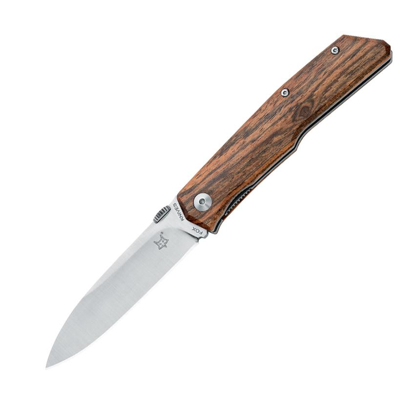 Складной нож Fox Terzuola, сталь N690, рукоять Bocote wood, коричневый