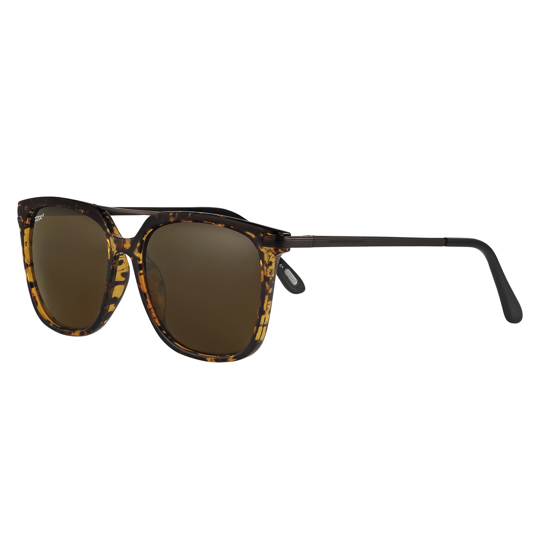 Очки солнцезащитные ZIPPO OB87-04, унисекс, коричневые, оправа, линзы и дужки из поликарбоната