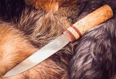 Якутский большой нож, карельская береза