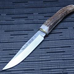 Нож с фиксированным клинком Muela, сталь X50CrMoV15, рукоять олений рог, фото 5
