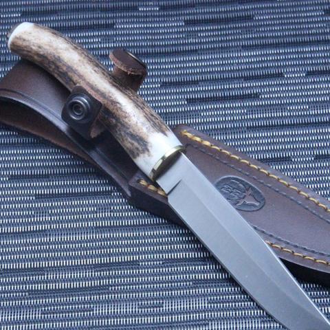 Нож с фиксированным клинком Muela, сталь X50CrMoV15, рукоять олений рог. Вид 6