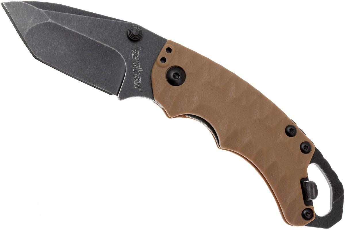 Фото 11 - Нож складной Shuffle II - KERSHAW 8750TTANBW, сталь 8Cr13MoV c покрытием BlackWash™, рукоять термопластик GFN коричневого цвета